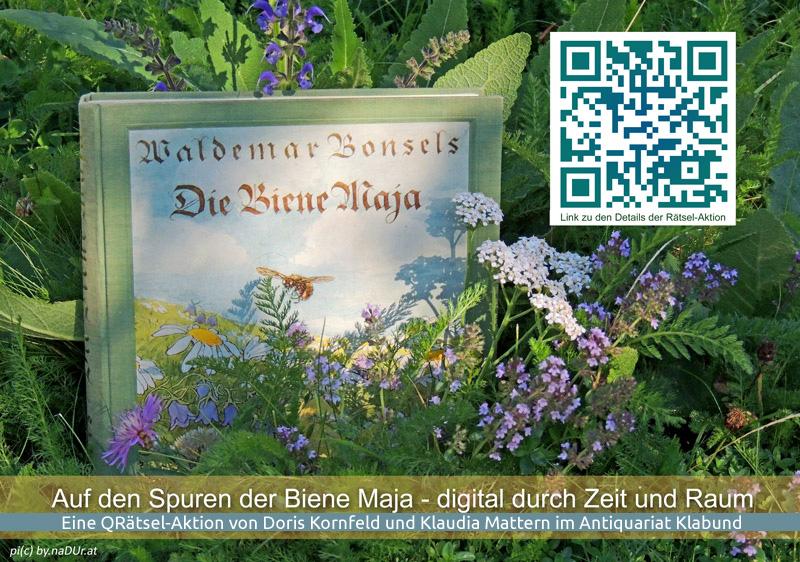 QRätsel-Aktion im Antiquariat Klabund: Auf den Spuren der Biene Maja